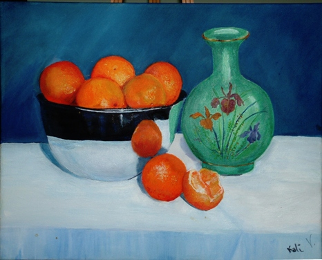 Still Life with Orange - Kali Valencia