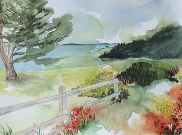 View of Puget Sound by Carolyn Bowlus