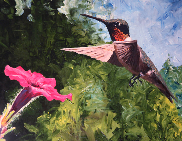 Jeffrey Waldron - Male Hummingbird and Flower