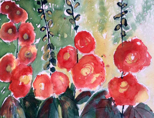 Patricia Heller - Poppies Reaching for the Sun