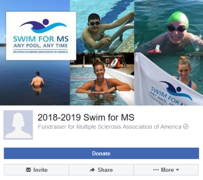 Swim for MS - Facebook Fundraiser