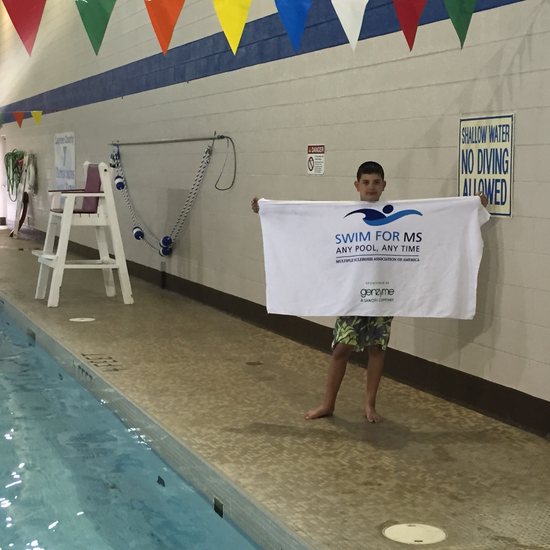 Dylan Frey - Swim for MS