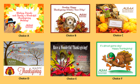 Vote for your favorite Thanksgiving card